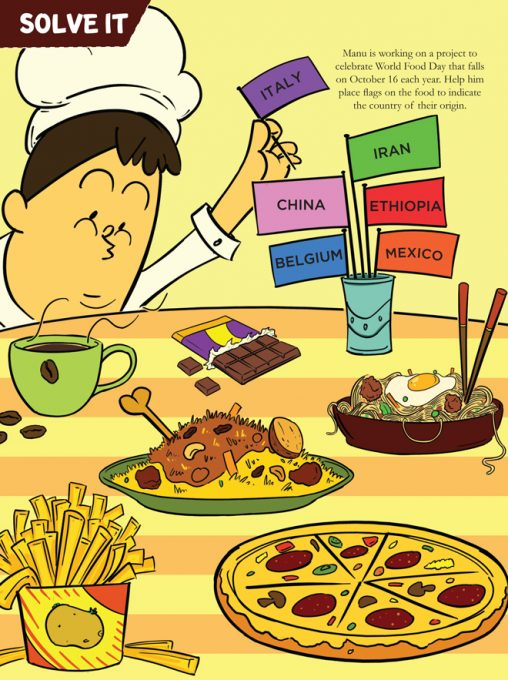 Origin of Food - Puzzles for Kids from Champak Magazine