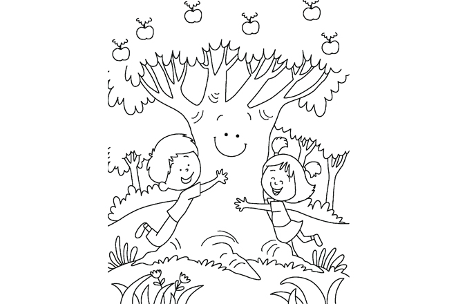 Save Trees Printable colouring
