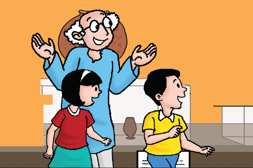 Kids comic story - Dadaji - Champak Kids Magazine