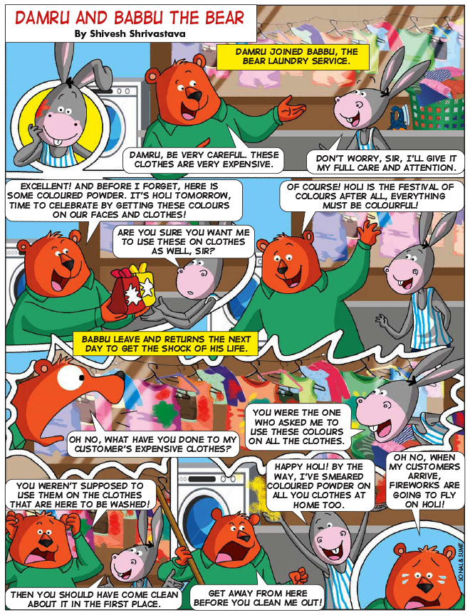 Damru And Babbu The Bear - Champak Magazine