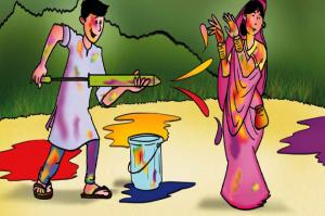 Dadaji and Holi